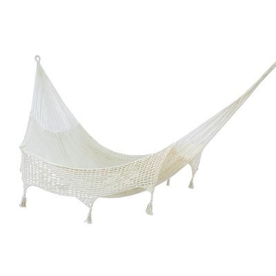 hand made beige cotton mayan hammock  double    caribbean sands   novica hand made beige cotton mayan hammock  double   u0027caribbean sands      rh   pinterest