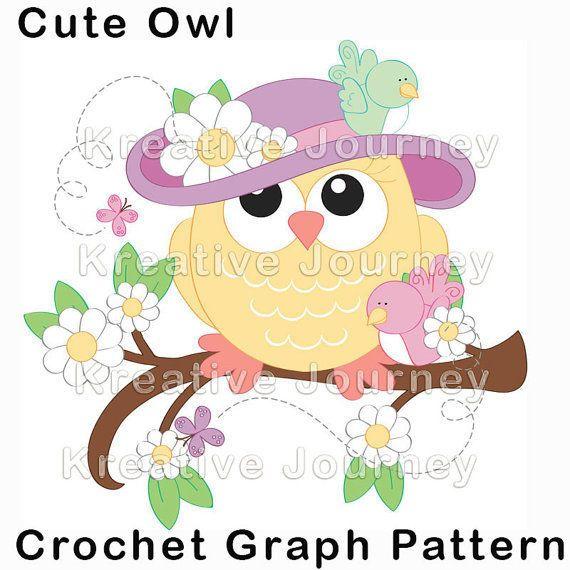 Cute Owl Crochet Graph Pattern
