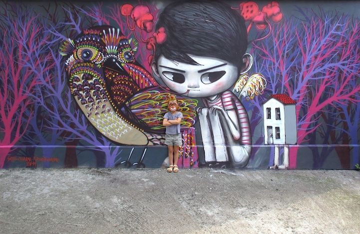 """Julien """"Seth"""" Malland Paints Whimsical Murals Around the World"""