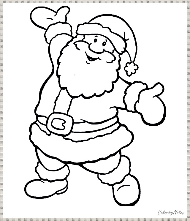 Santa Claus Coloring Pages Free Printable For Kids Santa Coloring Pages Christmas Coloring Pages Christmas Colors