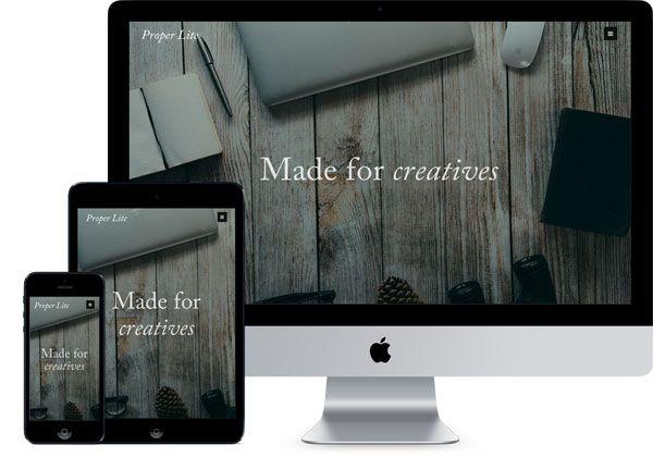 Proper Lite - Free wordpress photography theme
