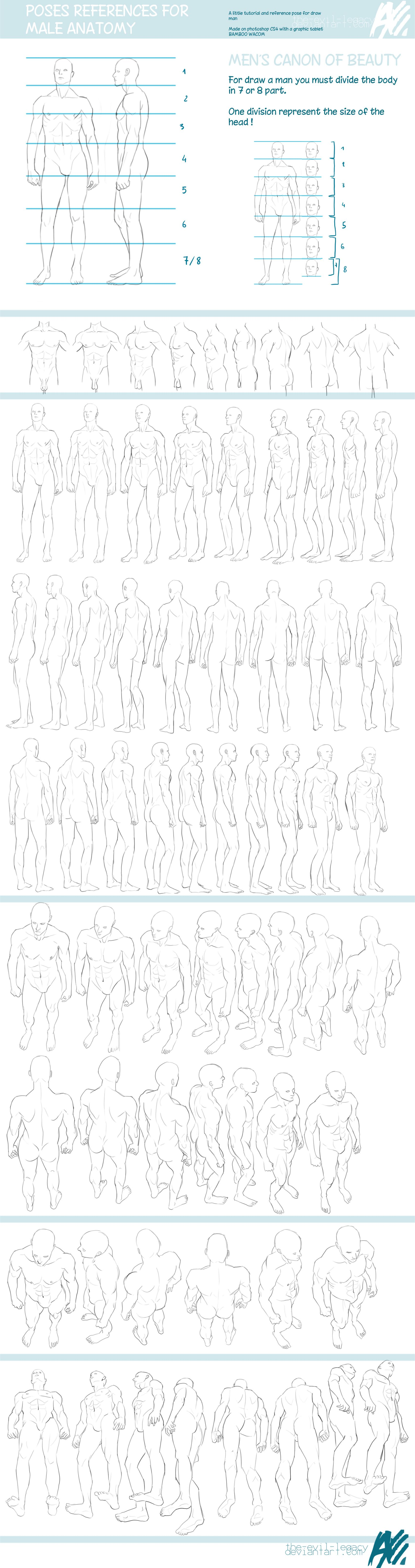 TUTO - male reference pose by ~the-evil-legacy on deviantART… | 3D ...