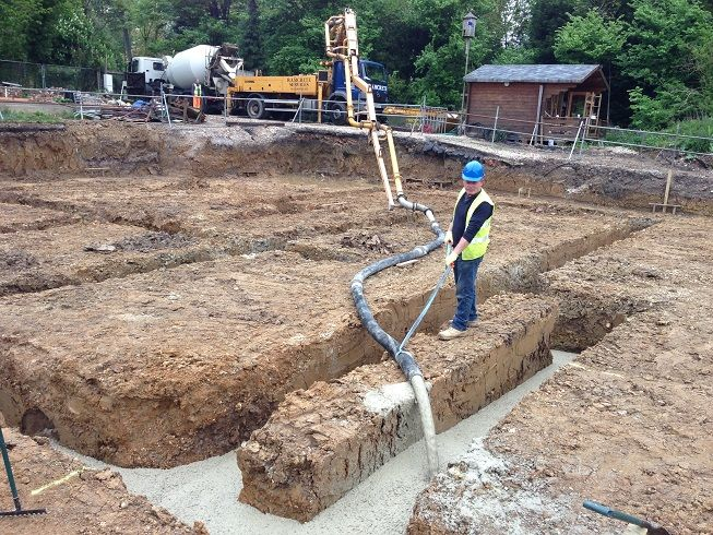 Self build house foundations hood pinterest house for Foundations for homes