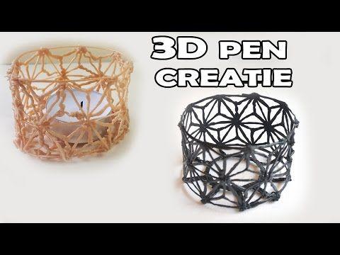 3d Printer Pen Creation Watch Me Make A Candle Holder Youtube 3d Pen Stencils 3d Drawing Pen 3d Printer Pen