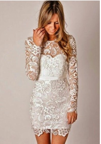 Fashion Lace Embroidery Long Sleeve Mini Dress from Eternal Apparel#apparel #dress #embroidery #eternal #fashion #lace #long #mini #sleeve