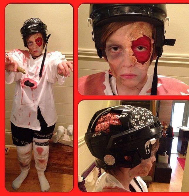 Hockey Halloween Costumes Fulton Reed To Hockey Zombie Hockey Halloween Costume Hockey Halloween Halloween Boys