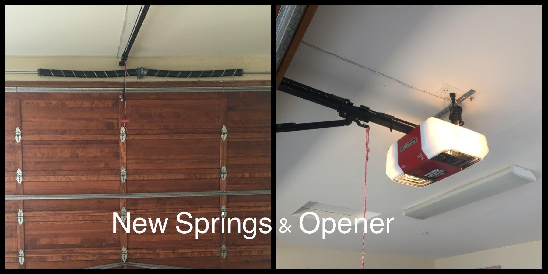 New garage door opener & garage door springs installed in ... on New Garage Door Springs  id=53657
