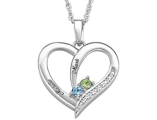Engravable birthstone heart pendant necklace in sterling silver engravable birthstone heart pendant necklace in sterling silver aloadofball Gallery