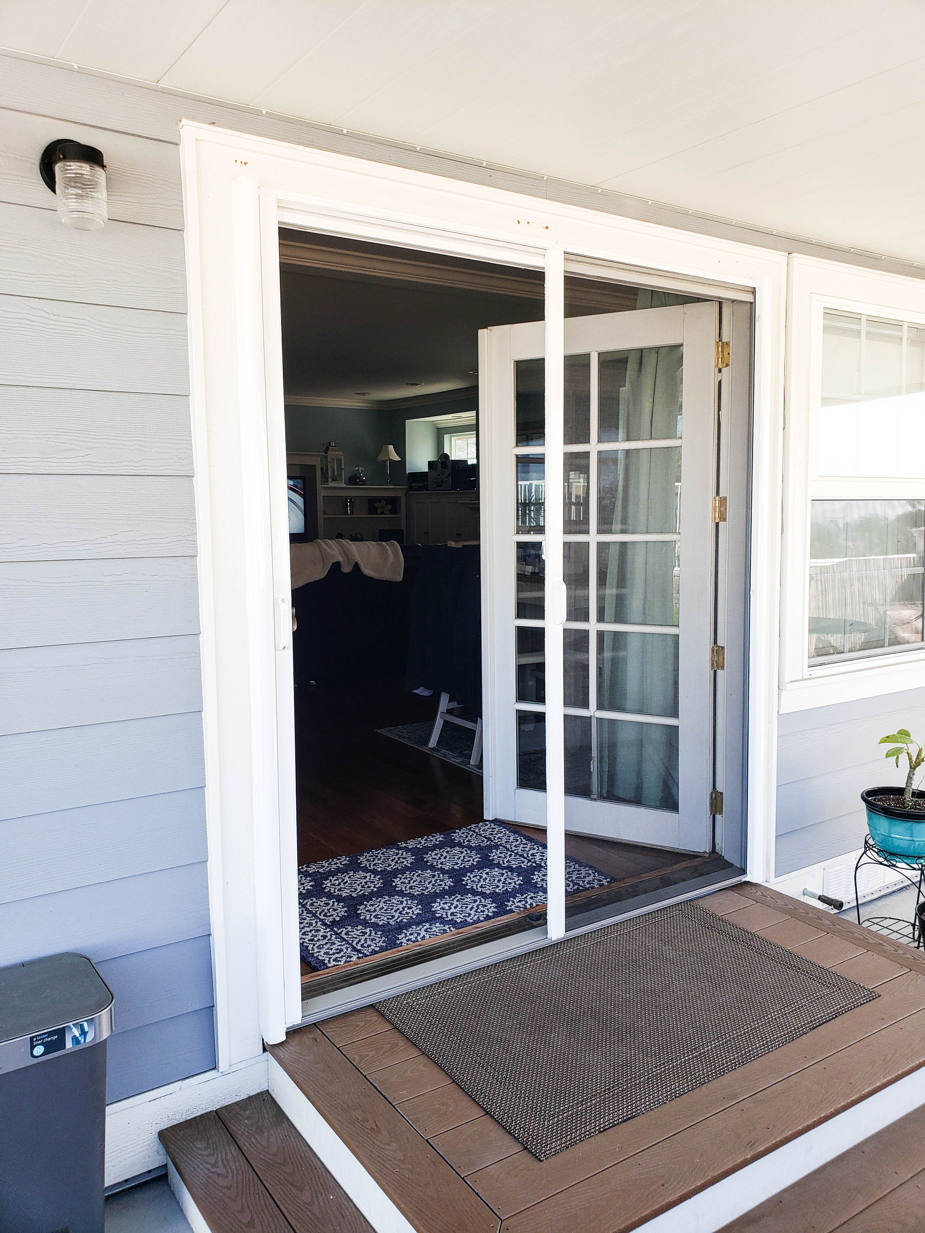Our Team Installed These Double Door Retractable Screens With A French Door Kit Over A Set Of French Do In 2020 French Doors Retractable Screen Retractable Screen Door
