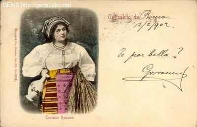 GENS - Cartoline antiche, Roman costume
