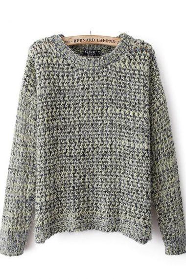 Weekend Wear! Blending Wool Scoop Neckline Sweater Fashion #Sweater #Love