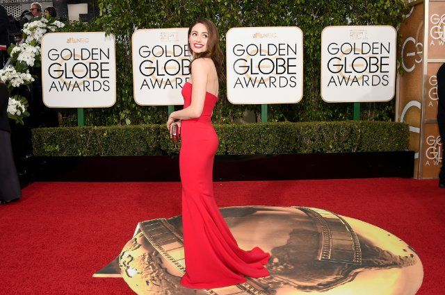 Emmy Rossum at The Golden Globes