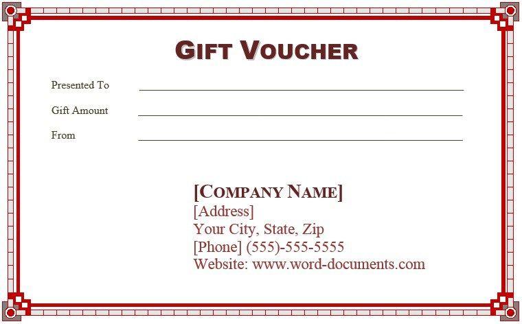 9 Free Sample Birthday Voucher Templates Template Printable