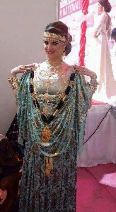 Image du tableau tenues traditionnelles Algeriennes de Kakou Kokham | Robe chaoui, Tenue ...