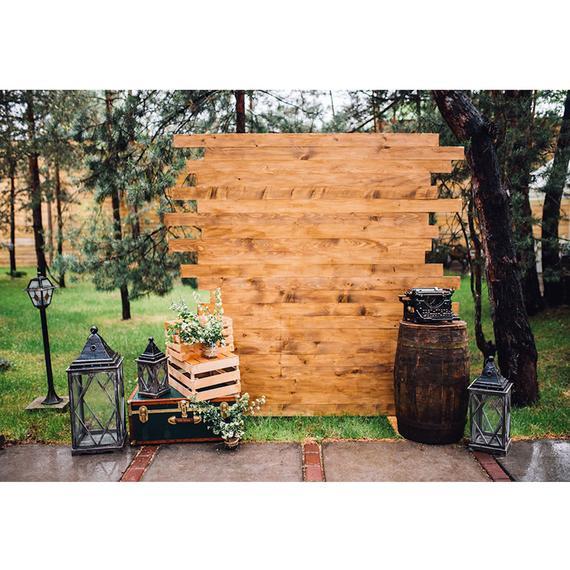 Rustic Wedding Backdrop, Vintage Wood Wall Photography