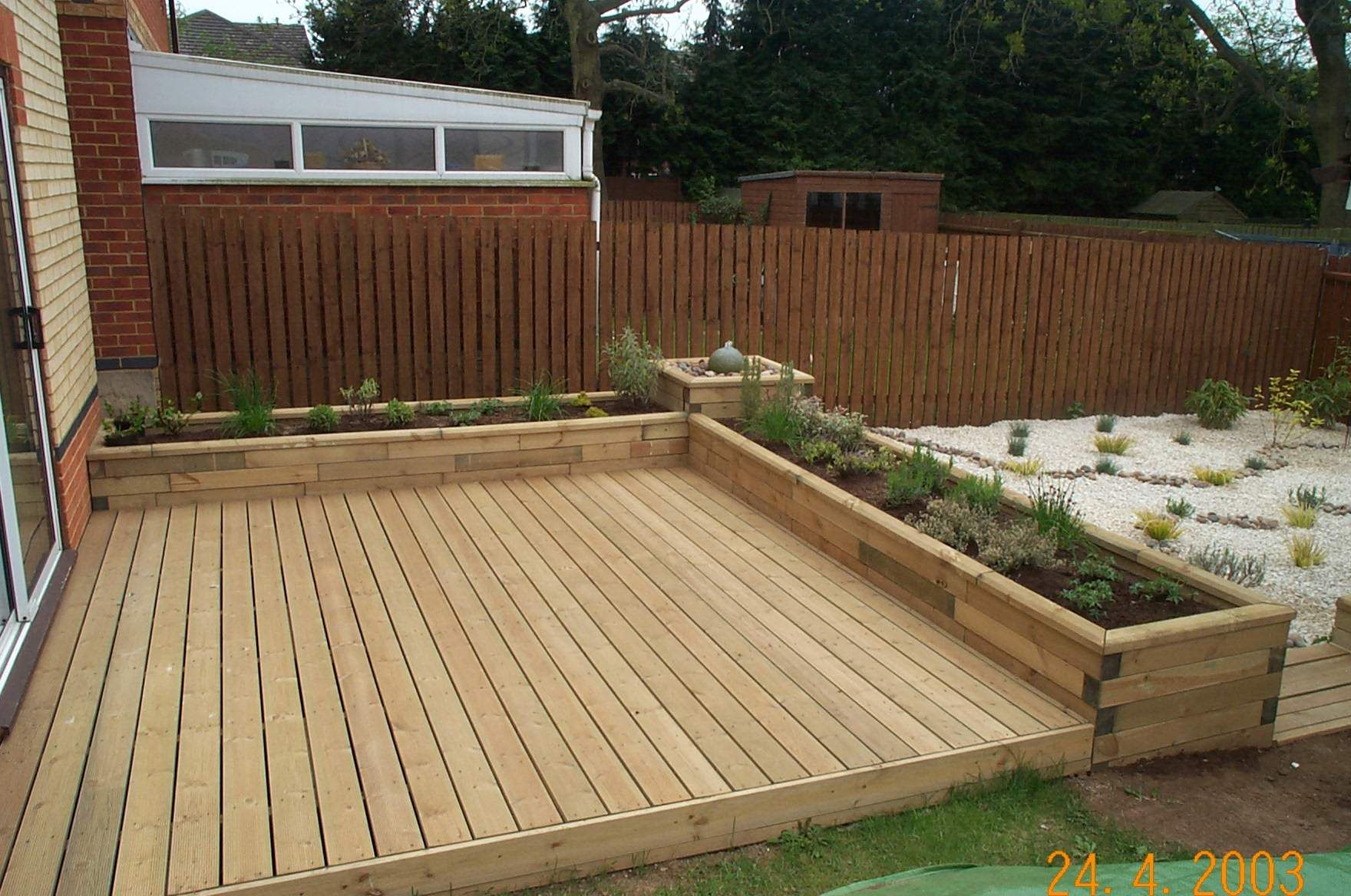 Ground Level Deck Ideas | Examples and Forms on Wood Deck Ideas For Backyard id=26472