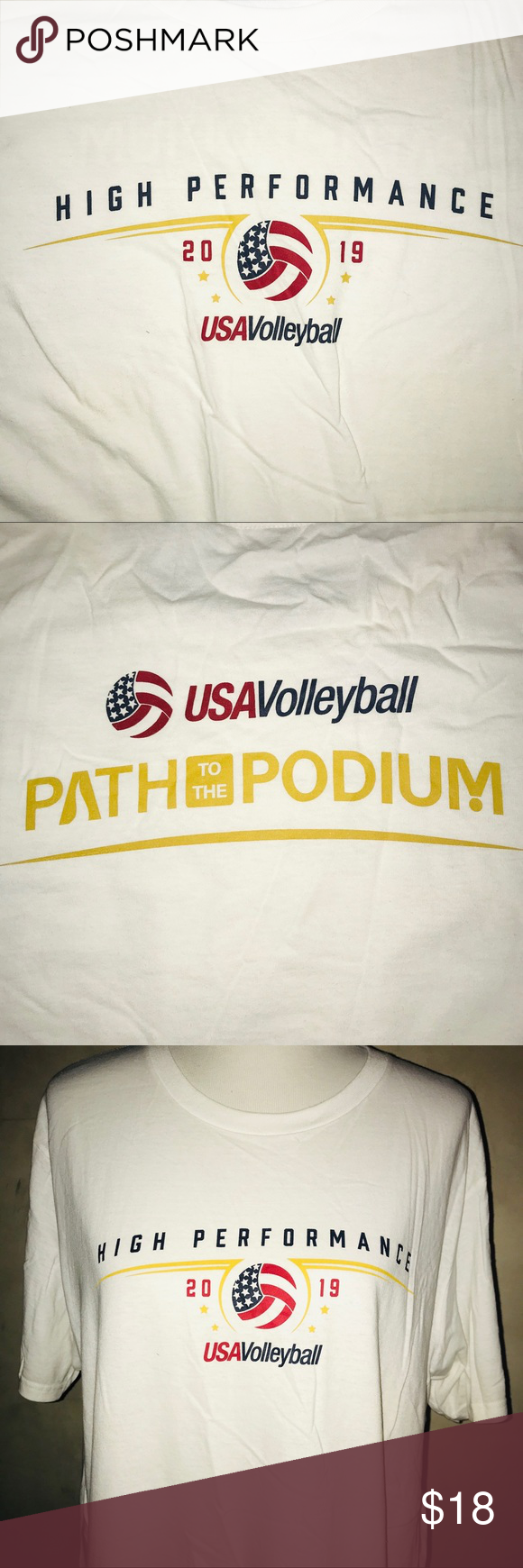 Adidas Usa Volleyball High Performance T Nwot Usa Volleyball High Performance Volleyball
