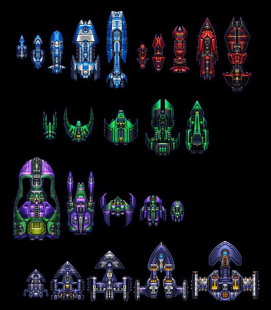 Space ship sprite sheet