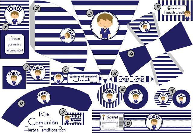 resumen kit imprimible comunion niño | COMUNION | Pinterest ...