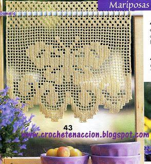 Cenefas tejidas a crochet para cortinas cortinas tejidas - Tejidos de cortinas ...