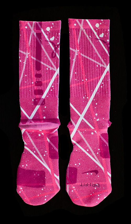 purchase cheap d547a 05eea The Most Wanted Custom Nike Elite Socks - Thesockgame.com — Breast Cancer  Elites - Custom Nike Elite Socks