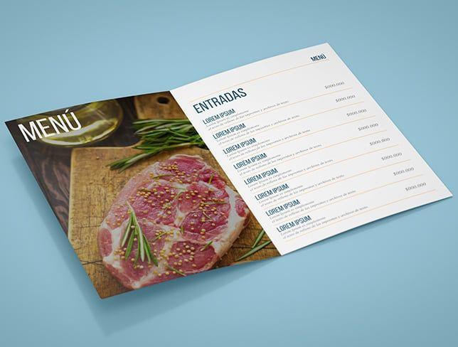Diseño de menus y cartas para restaurantes | Cartas y Menues ...