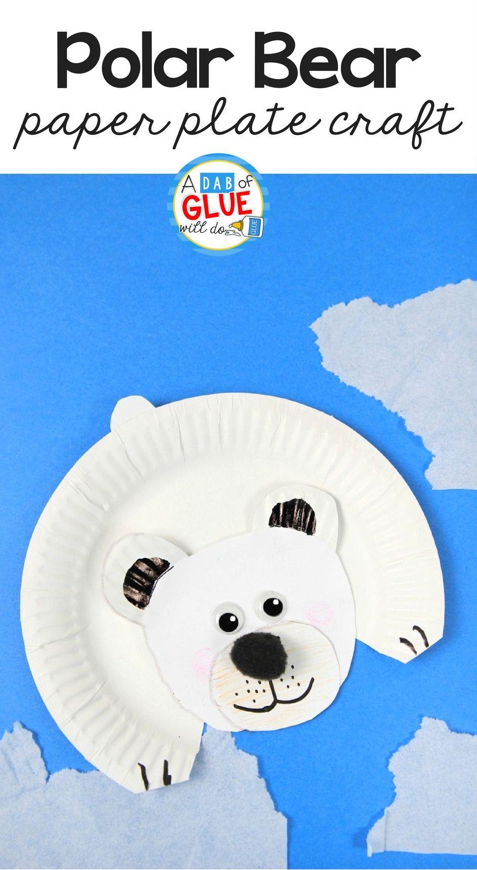 Polar Bear Paper Plate Craft | 2nd Grade! | Crafts for ...