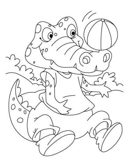 Football lover Crocodile coloring pages Download Free Football - new alligator coloring pages to print