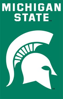 Michigan State Spartans Premium Applique Banner Party Animal Michigan State Michigan State Spartans Michigan State University