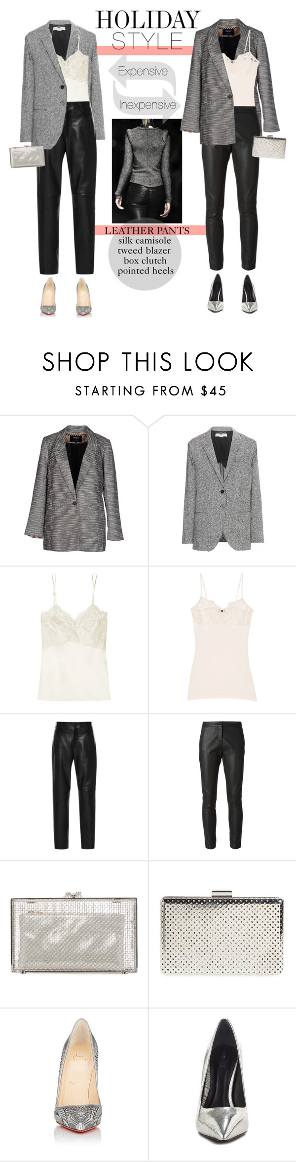 """Masculine vs. Feminine"" by p-for-paola ❤ liked on Polyvore featuring ONLY, STELLA McCARTNEY, Olivia von Halle, By Malene Birger, Anthony Vaccarello, Emporio Armani, Charlotte Olympia, Sole Society, Christian Louboutin and ALDO"