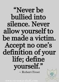 I am not a bully because I stood up for myself  Aren't you