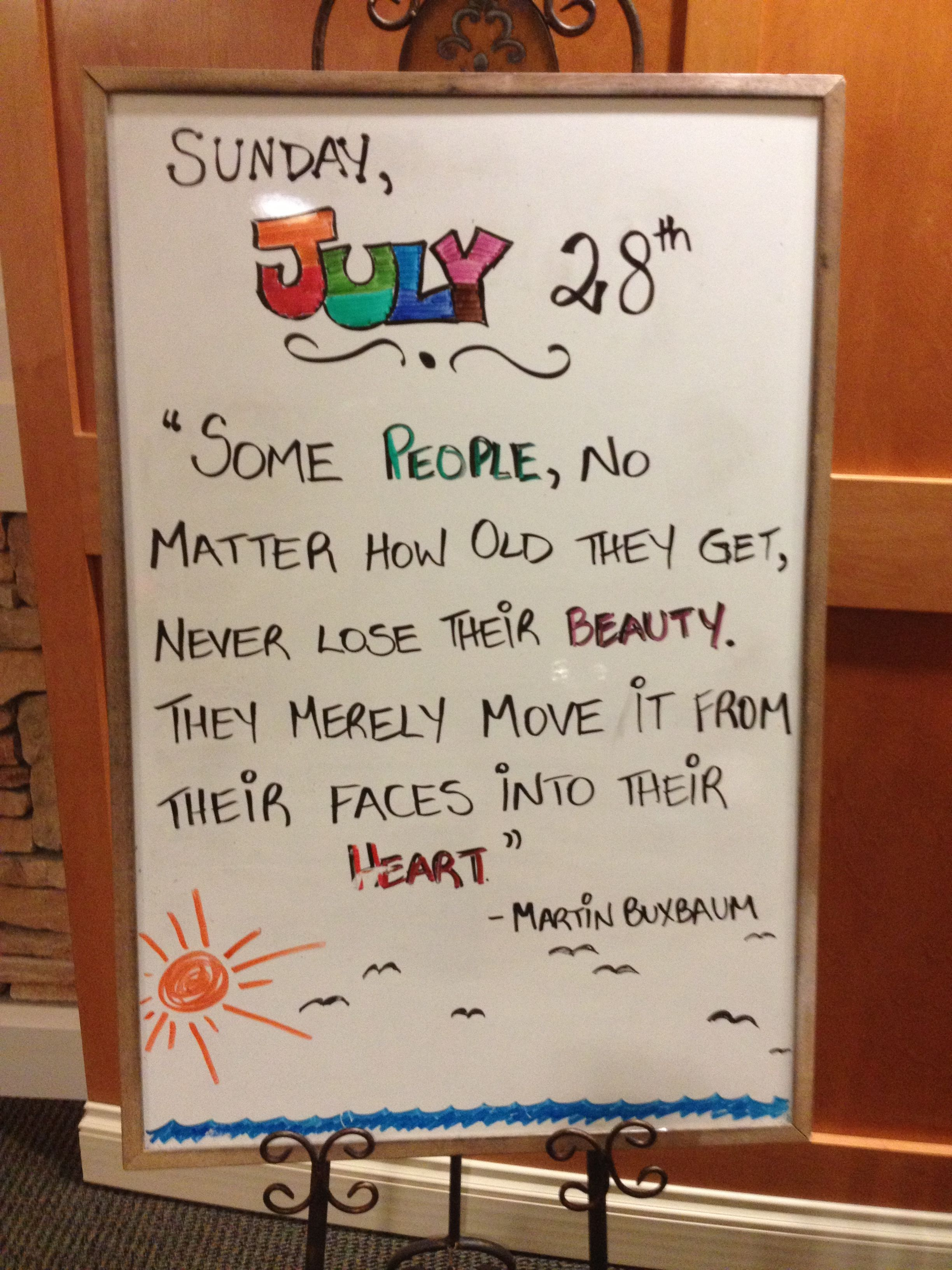A saying I found in my moms assisted living home | assisted living ...