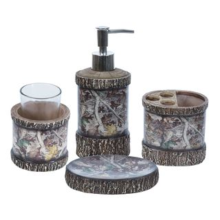 Shop For HiEnd Accents Camo Bathroom Set (Set Of 4) And More For Everyday