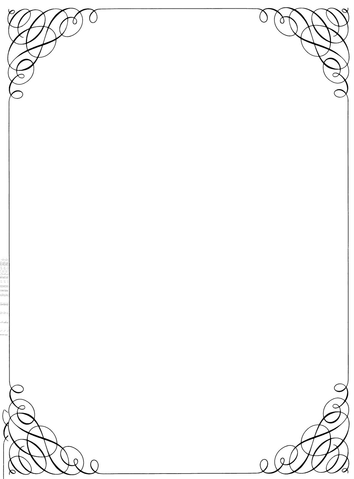 Black And White Christmas Borders And Frames 110 x 150