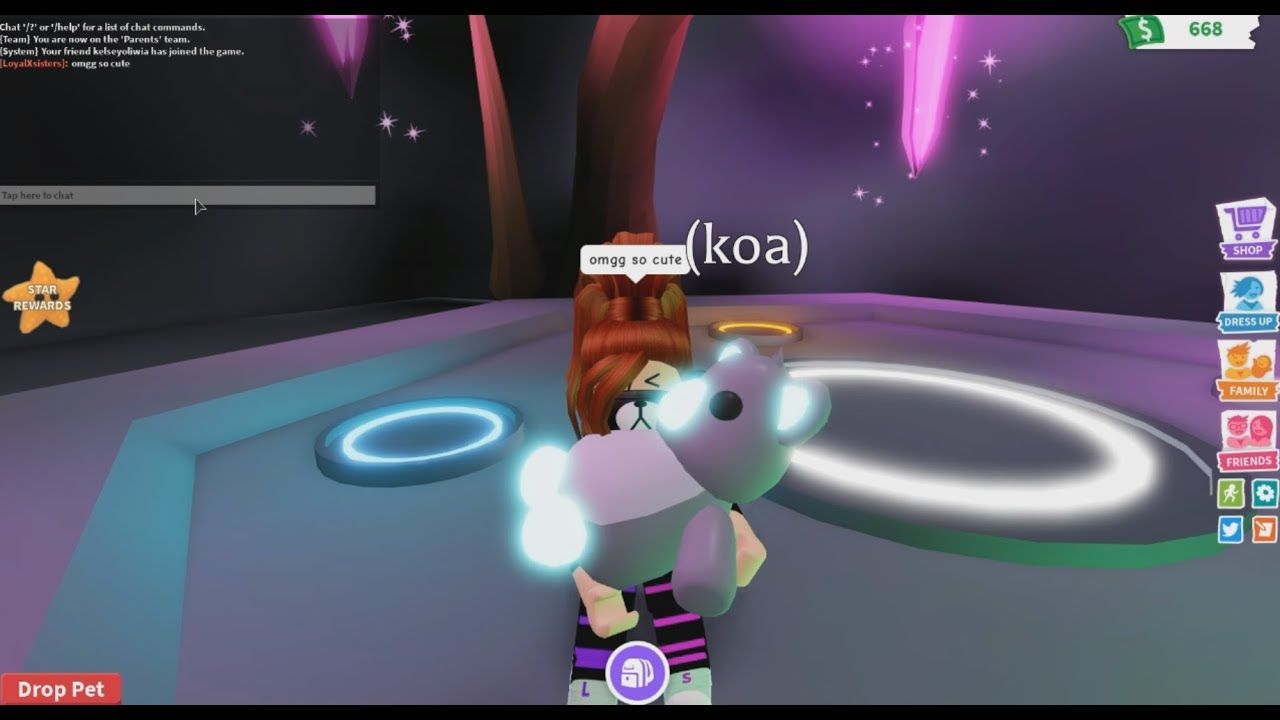Making A Neon Koala Playadoptme Roblox In 2020