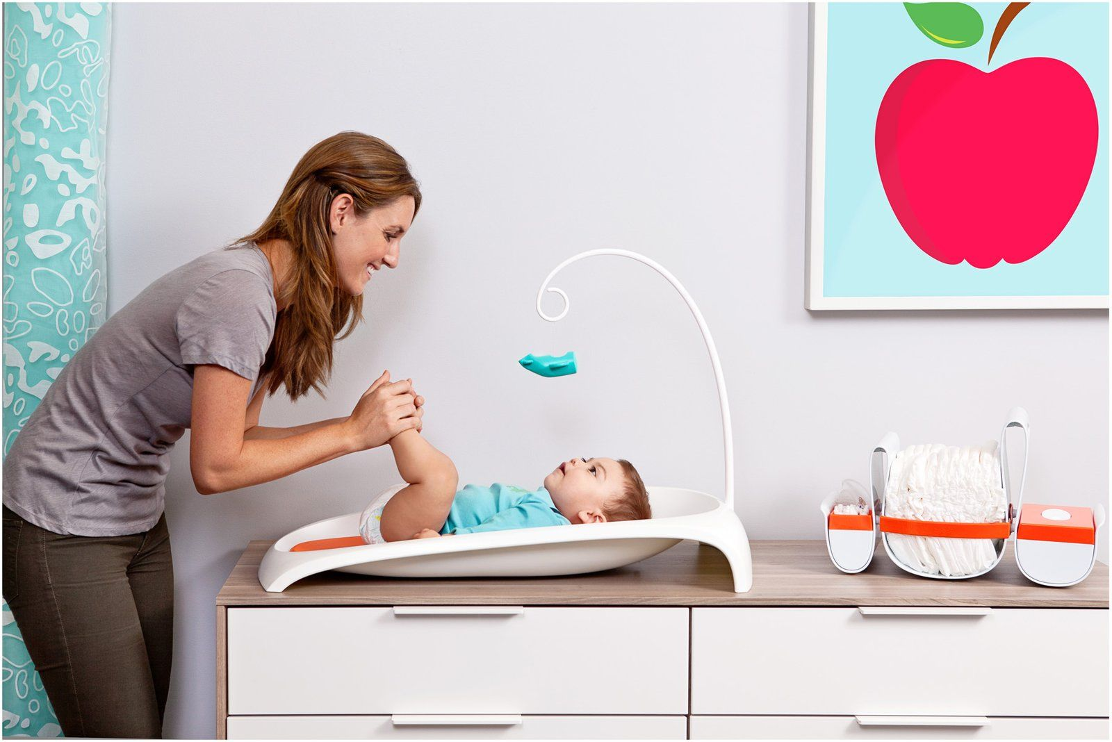 Boon Fresh Baby Changing Station, Orange/White - Free Shipping