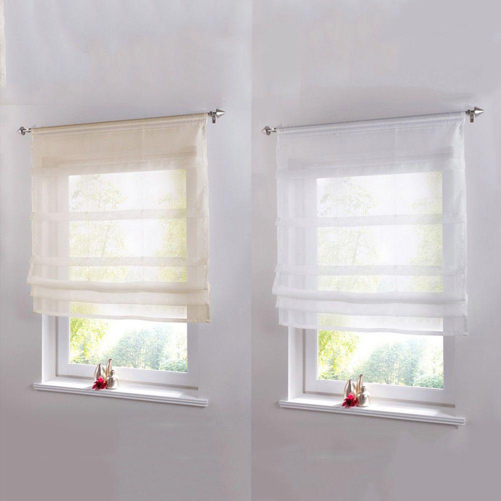 Pure color roman venetian blinds balcony home kitchen room window
