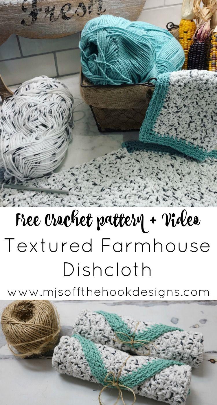 Free Rustic Farmhouse Dishcloth Pattern | knitting and crochet ...