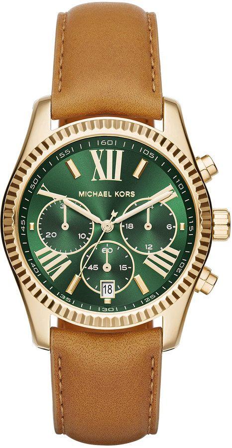db57e5198310 Michael Kors 38mm Lexington Leather-Strap Watch
