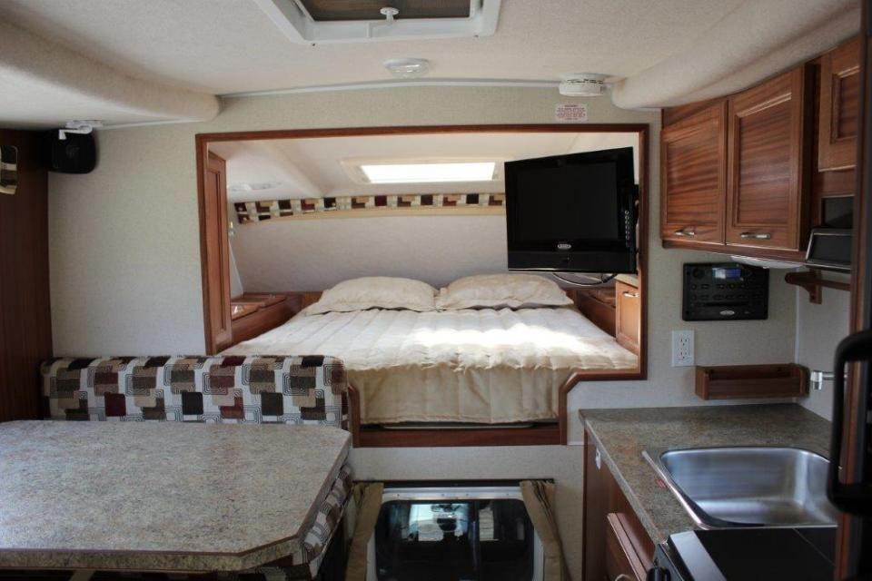 8 11 Q Short Box Slide in Truck Camper Because Camping