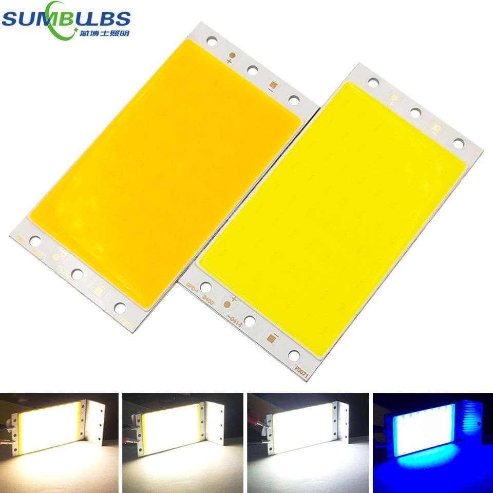 Sumbulbs Cob Led Light 5w 10w 20w 30w 50w 200w Dc Led Bulb Chip On Board Colorful Cob Strip Modules For Diy Car House Lig Led Panel Strip Lighting Led Lights