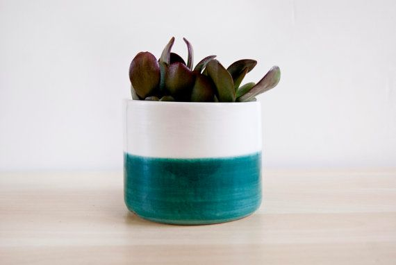 Large Ceramic Succulent 4 Inch Turquoise Planter With Drainage Hole For Indoor Outdoor Decorative Glazed Ceramic Flower Pot Medium Ceramic Plant Pots Ceramic Succulent Planter Small Potted Plants