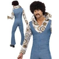 Mens Groovy Dancer Costume Great 60s 70s Party Stag