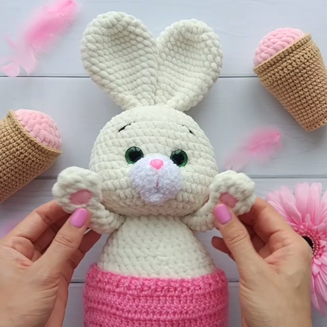 AMIGURUMI BUNNY Pattern - Crochet rabbit PDF Pattern - Stuffed Toys pattern - Cuddly Bunny - Plush toy pattern #stuffedtoyspatterns