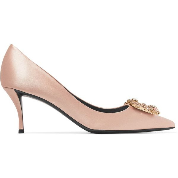 Amazon Footaction Shop For Crystal-embellished Satin Pumps - Neutral Roger Vivier Cheap Recommend Wiki Sale Cheap Prices q0Yg9TQH