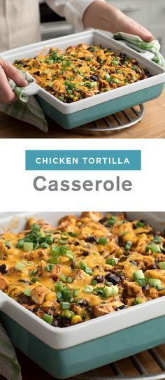 Everyone loves Mexican-inspired casseroles, but they don't alw ays fit into an easy dinner menu.  However, with this tasty dish for Chicken Tortilla Casserole, you can enjoy a lighter version of creamy, zesty layers of tortillas, chicken, beans, and corn—while still keeping all the bold flavor your family loves.