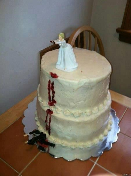 well i guess thats a divorce cake hahah