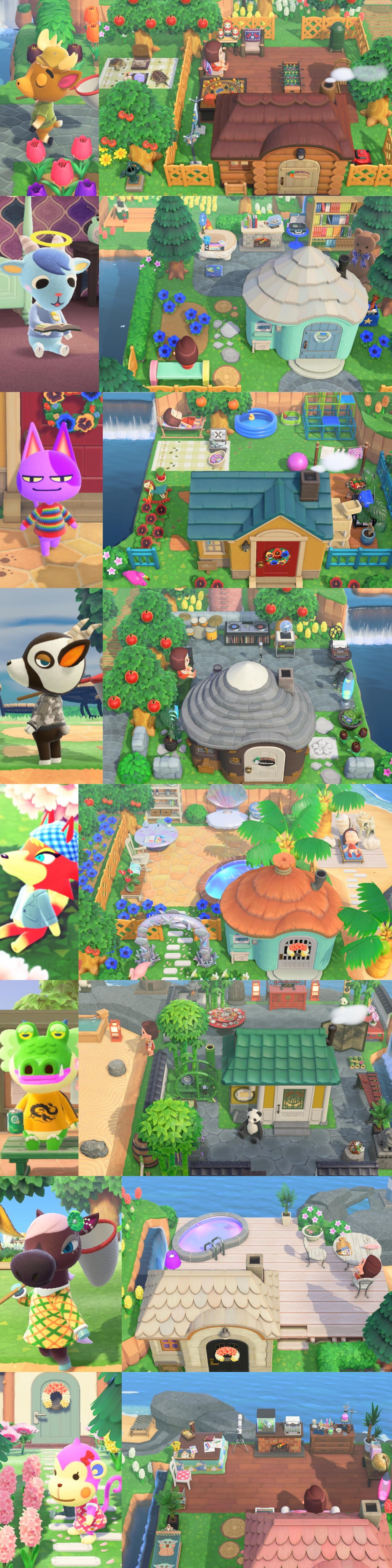 Villagers Yards Animal Crossing Villagers Animal Crossing Funny Animal Crossing Fan Art