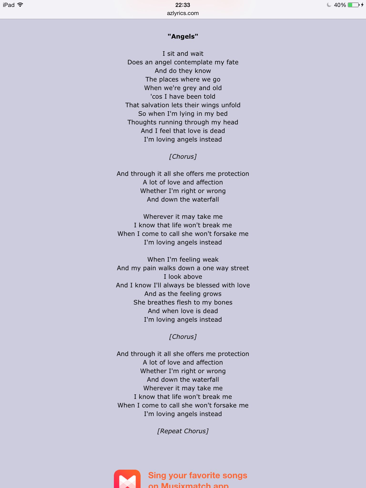 Robbie Williams Angels Music