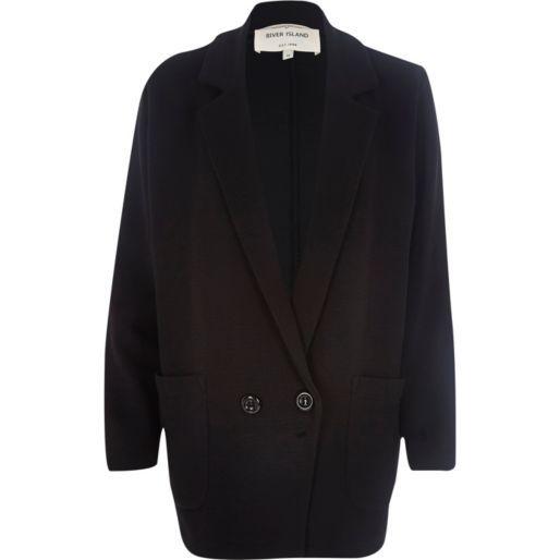 Black oversized jersey jacket - jackets - coats / jackets - women